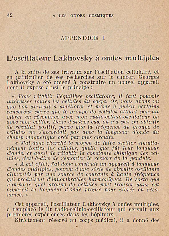 témoignages des guérisons obtenues grace aux collier bracelet ceinture lakhovsky